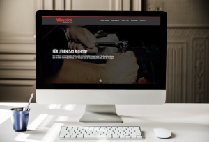 Homepage für Werkstätten Website