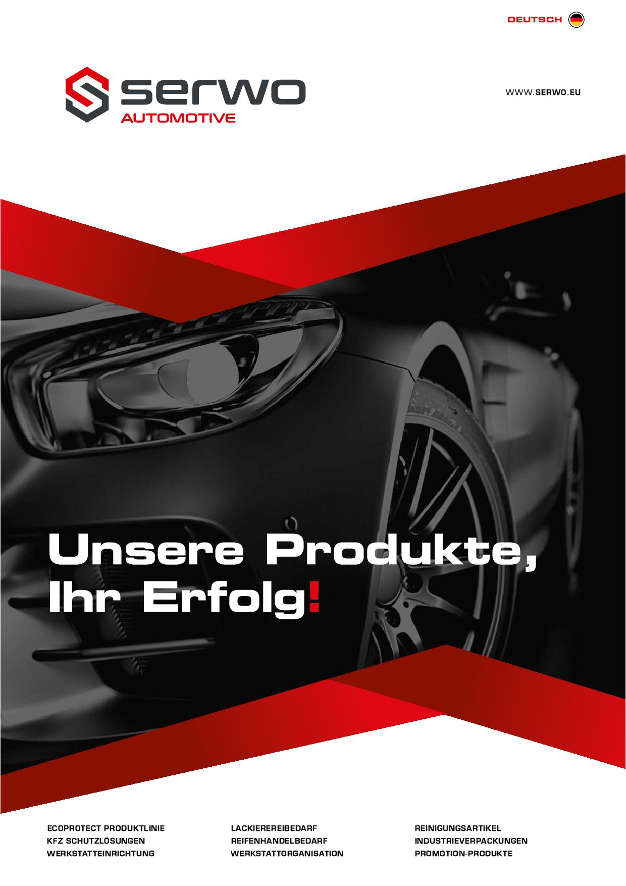 Serwo Automotive Produktkatalog