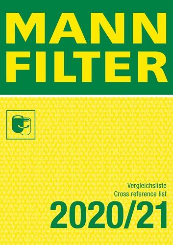 MannFilter Katalog Vergleichsliste