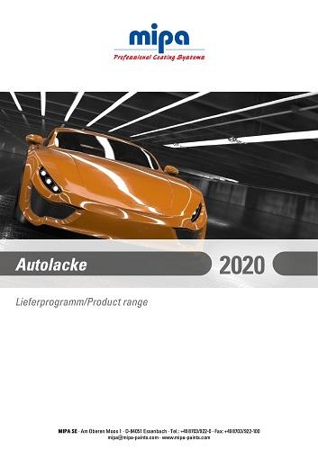 Mipa Autolack Lieferprogramm 2020