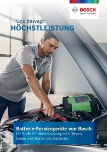 Batterie-Servicegeräte von Bosch